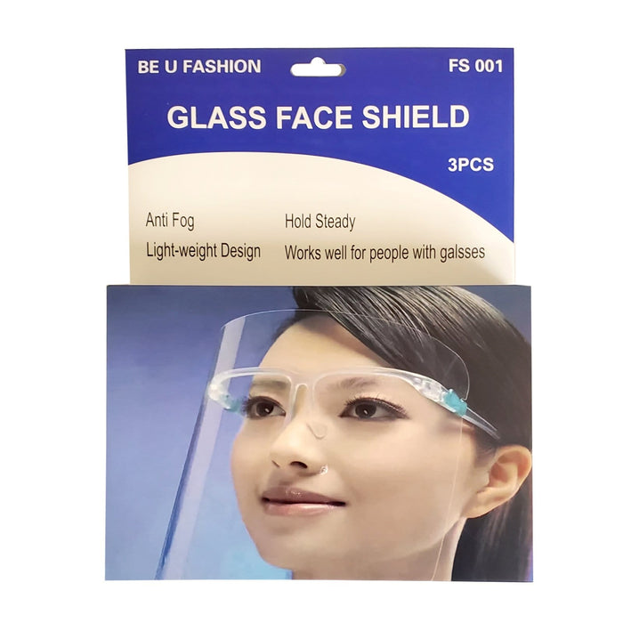 BE U | Glass Face Shield 3PCS - Hair to Beauty