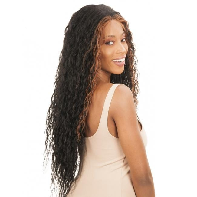 FS134B - Chade Fake Scalp 13X4 Synthetic Lace Front Wig - Hair to Beauty | Color Shown : FF1B/30