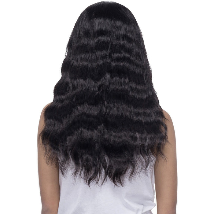 GANNET | Vivica A. Fox Brazilian Remi Natural Baby Hair 11x4 Full Swiss Lace Wig - Hair to Beauty | Color Shown: NATURAL