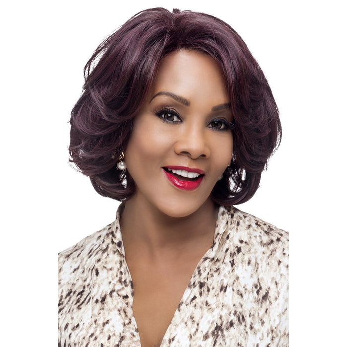 GARDEN | Vivica A. Fox Synthetic Lace Front Wig - Hair to Beauty | Color Shown: 99J