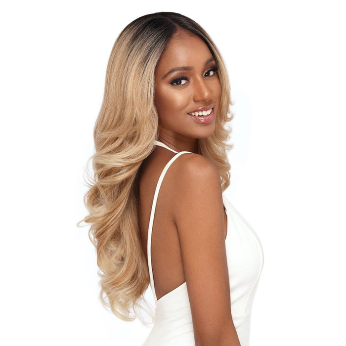 GENEVA | Perfect Hairline Synthetic 13x6 Swiss Lace Front Wig - Hair to Beauty | Color Shown: DR4/T27613