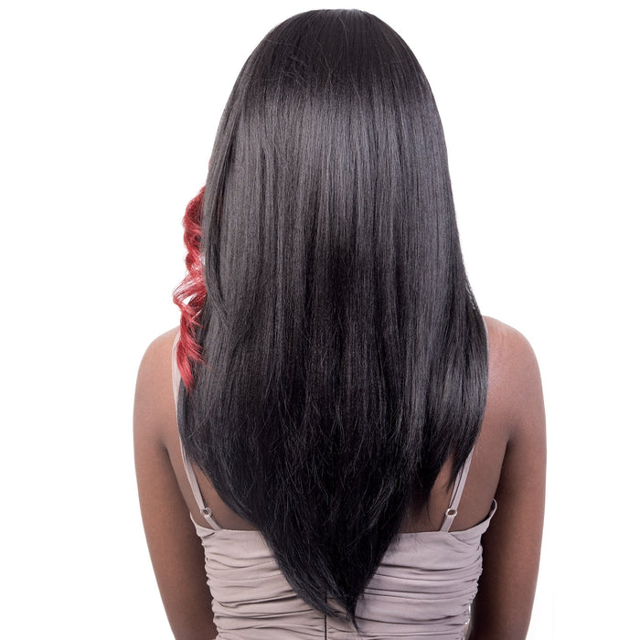 GGC-HANA | Motown Tress Go Girl Synthetic Wig - Hair to Beauty | Color Shown: FB1B/RED