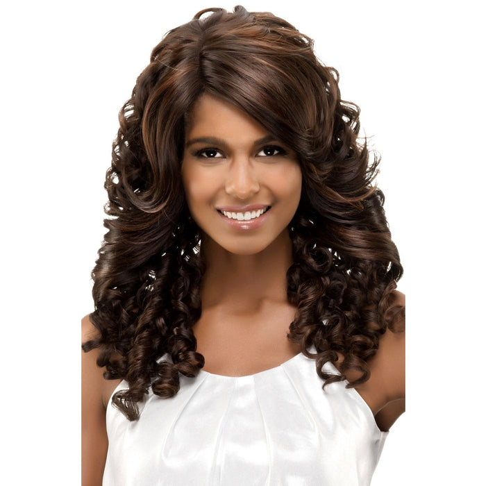 GISELLE | Vivica A. Fox Synthetic Invisible Part Deep Swiss Lace Front Wig - Hair to Beauty | Color Shown: FS4/30