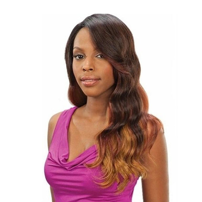 GLAMOROUS | Human Hair Deep Invisible Part Lace Front Wig.