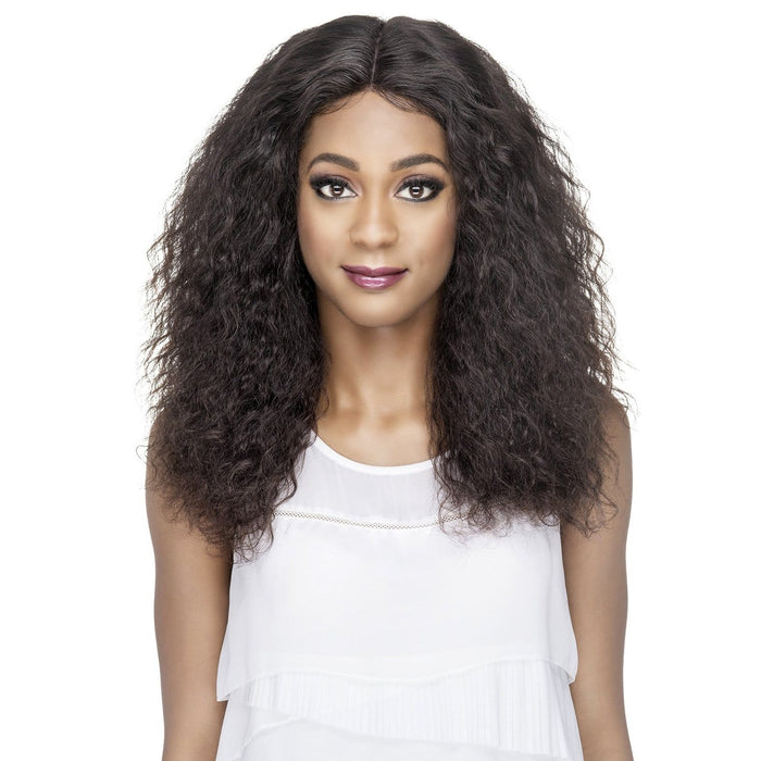GLITTER | Vivica A. Fox Brazilian Remi 6x4 Deep Swiss Lace Front Wig - Hair to Beauty | Color Shown: NATURAL