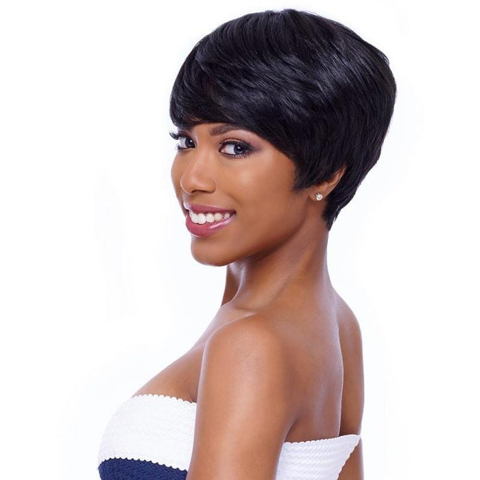 GM900 | Harlem125 Gogo Master 100% Human Hair Wig - Hair to Beauty | Harlem125 Color Shown : 1B