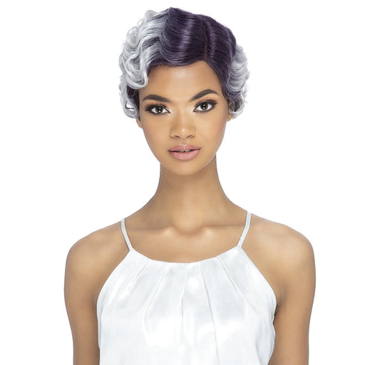 GRACELYN | Synthetic Natural Baby Hair Swiss Lace Front Wig - Hair to Beauty | Color Shown: STTPP/WHITE