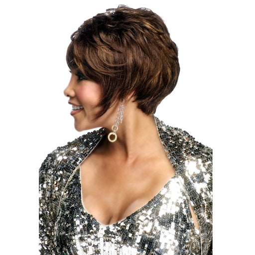 H311 | Vivica A. Fox Pure Stretch Cap Human Hair Wig - Hair to Beauty | Color Shown: FS4/27