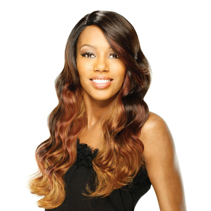 HAPPY | Ego Remy Human Hair Deep Invisible L-Part Wig - Hair to Beauty | Color Shown: OM203