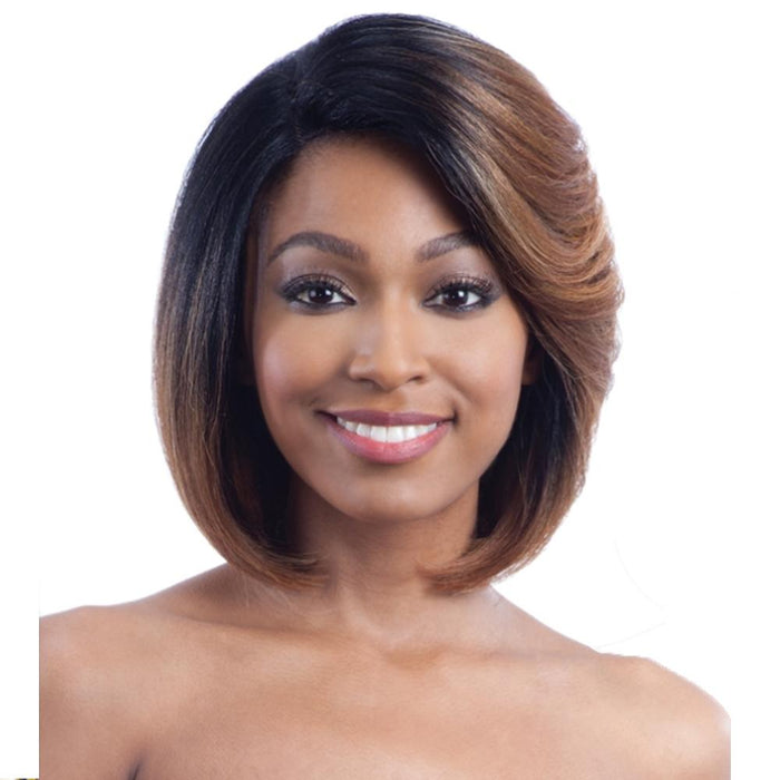 HARMONY 111 | Harmony Mastermix Human Hair Blend Lace Front Wig - Hair to Beauty | Color Shown: SOPHONEYBR