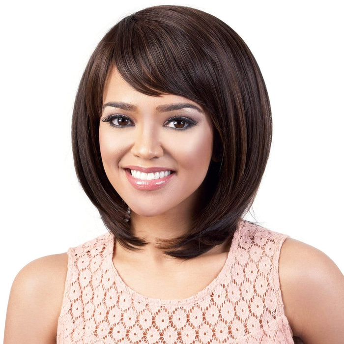 HB-HARA | Human Hair Blend Wig - Hair to Beauty | Color Shown: F4/30