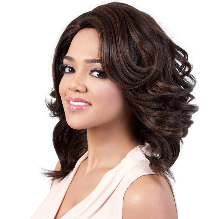 HB-JADI | Motown Tress Human Hair Blend Wig - Hair to Beauty | Color Shown: F4/30