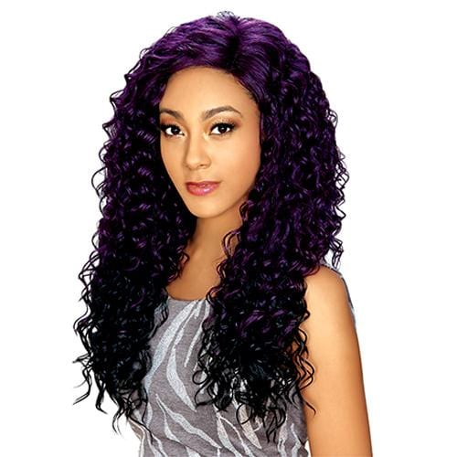 HB LACE WIG MUSE | Human Hair Blend Lace Part Wig.