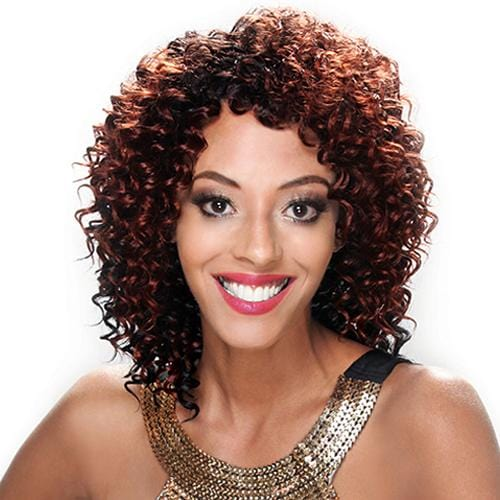 HB-NO.8 DEEP CURL | Zury Sis Human Hair Blend Wig - Hair to Beauty | Color Shown: