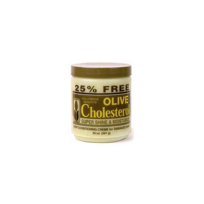 HOLLYWOOD BEAUTY | OLIVE OIL CHOLESTEROL (20OZ) - Hair to Beauty