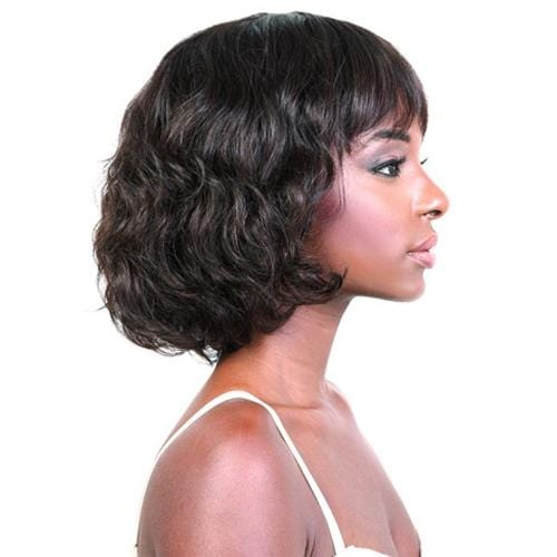 HBR-KARA | Motown Tress Unprocessed Brazilian Virgin Remy Wig - Hair to Beauty | Color Shown: NATURAL