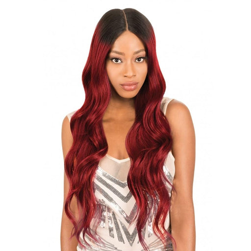 HD360D BODY WAVE | New Born Free Synthetic HD Lace Front Wig - Hair to Beauty | Color Shown : DYX/REDWINE