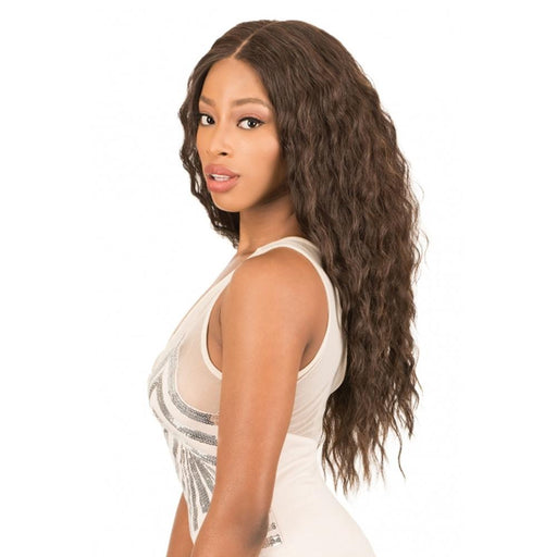 HD360N NEW DEEP | New Born Free Synthetic HD Lace Front Wig - Hair to Beauty | Color Shown :