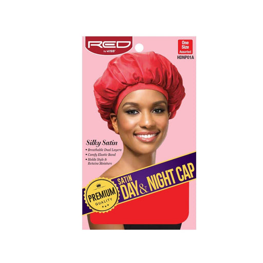 Red By Kiss | Premium Quality Satin Day & Night Cap Assort Color HDNP01A - Hair to beauty
