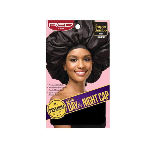 Red By Kiss | Satin Day & Night Cap Premium Quality Jumbo Size HDNP02 - Hair to beauty