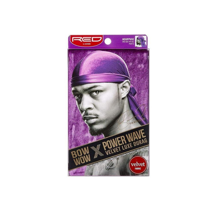 Red By Kiss | Power Wave Velvet Luxe Durag, Purple - Hair to beauty