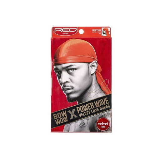 Red By Kiss | Power Wave Velvet Luxe Durag, Red - Hair to beauty