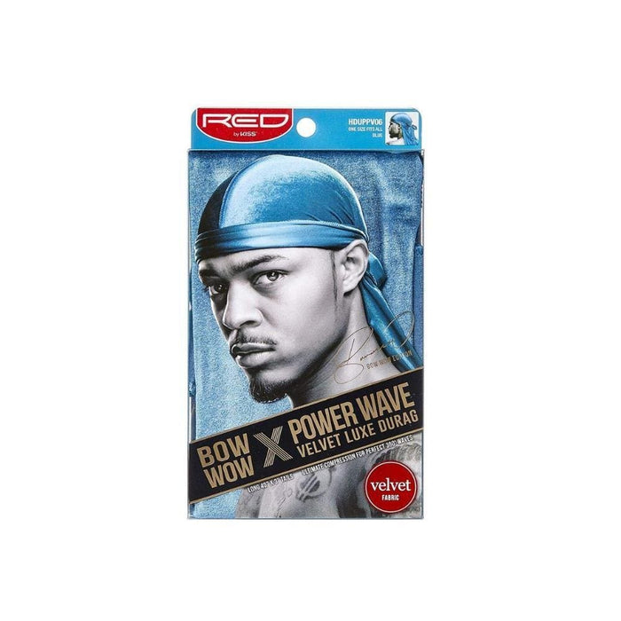 RED BY KISS | Bow Wow X Power Wave Velvet Luxe Durag Blue.