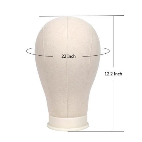 "BE U | White Canvas Block Mannequin Head 22"" - Hair to Beauty 