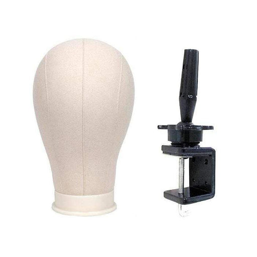BE U | Canvas Block Mannequin Head & Holder - Hair to Beauty