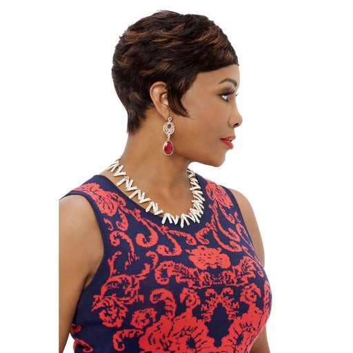 HH-CARITA | Vivica A. Fox Human Hair Wig - Hair to Beauty | Color Shown: FS1B/30