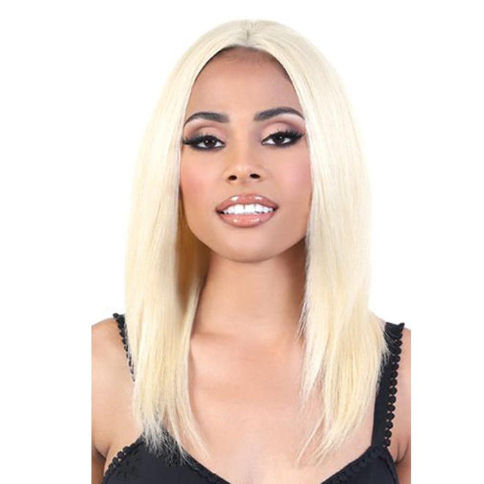 HNBL3. INA | Motown Tress 100% Remy Natural & Blonde Human Hair 13X2 Lace Wig - Hair to Beauty | Color Shown: BLONDE613