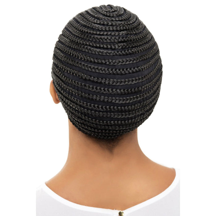 HORSESHOE CORNROW CAP  | Vivica A. Fox Synthetic Pro Cap - Hair to Beauty | Color Shown: 1B