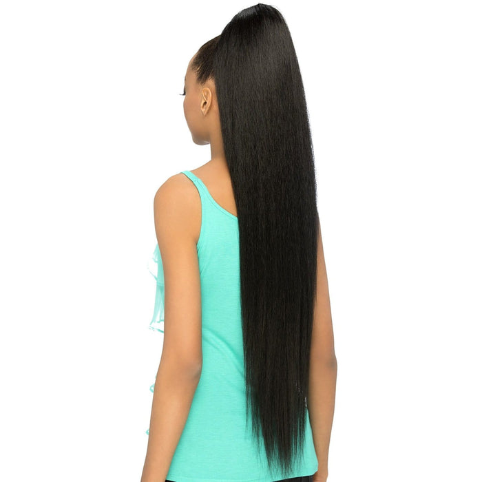 HPB-SCARLETT | Vivica A. Fox Human Hair Blend Ponytail - Hair to Beauty | Color Shown: FS1B/30
