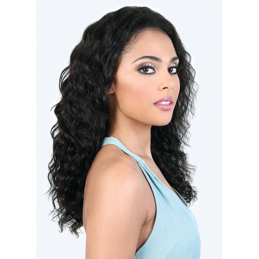 HPL360. ANN | Motown Tress 100% Persian Virgin Remy 360 Lace Part Wet & Wavy Wig - Hair to Beauty | Color Shown: NATURAL