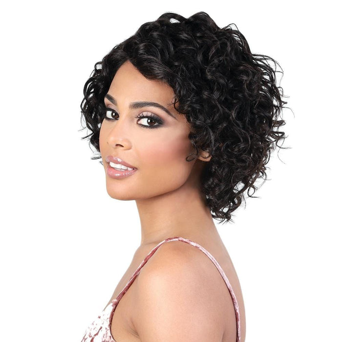 HPLP. ALMA | Motown Tress 100% Persian Virgin Remy Lace Part Swiss Lace Loose Curly Wig - Hair to Beauty | Color Shown: NATURAL