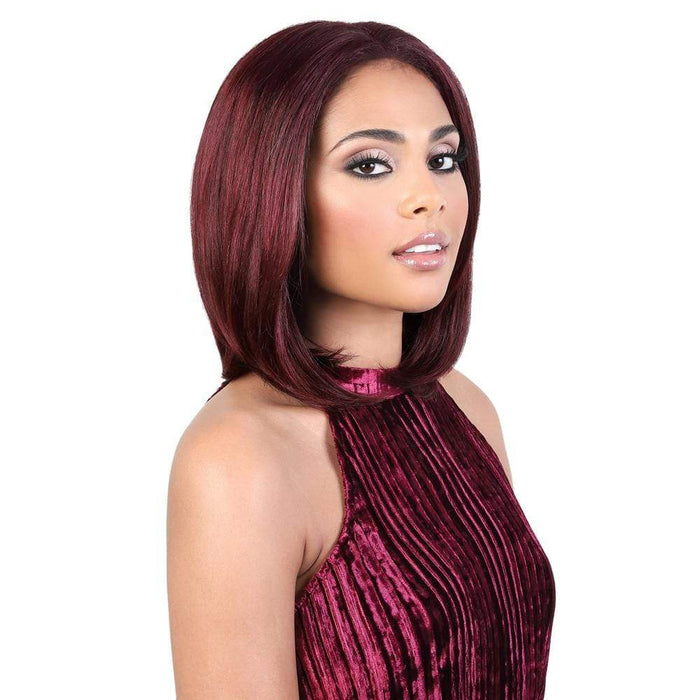 HPLP. SURI | Motown Tress 100% Persian Virgin Remy Lace Part Swiss Lace Wig - Hair to Beauty | Color Shown: 99J