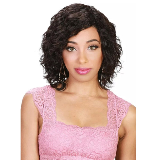 HR-BRZ WW ECO | Zury Sister Brazilian Remy Human Hair Wet & Wavy Wig - Hair to Beauty | Color Shown : NATURAL
