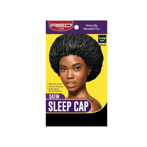 Red By Kiss | Satin Sleep Cap X-Large Silky Satin Fabric HSL02 - Hair to beauty