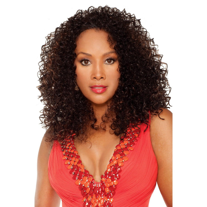 HW-KARA | Vivica A. Fox Synthetic Express Half Wig - Hair to Beauty | Color Shown: FS1B/30