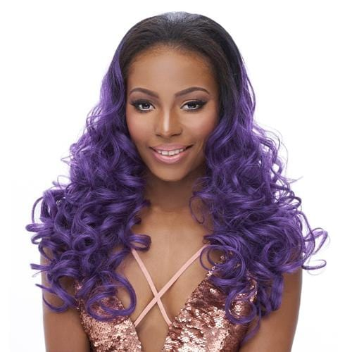 HW STARDUST | It's a Wig! Synthetic Hair Half Wig - Hair to Beauty | Color Shown: TTPURPLE