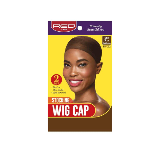Red By Kiss | Stocking Wig Cap Dk Brown Color 2 Caps In A Pack One Size HWC02 - Hair to beauty