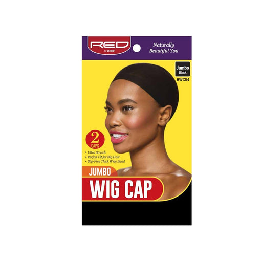 Red By Kiss | Stocking Wig Cap Black Color 2 Caps In A Pack Jumbo Size HWC04 - Hair to beauty