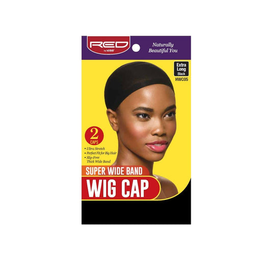 Red By Kiss | Super Wide Band Wig Cap 2 Caps In A Pack Extra Long Black HWC05 - Hair to beauty