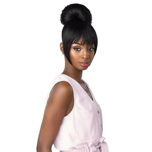 IB HAYLIE | Sensationnel Synthetic Hair Instant Bun with Bang - Hair to Beauty | Color Shown: 1B