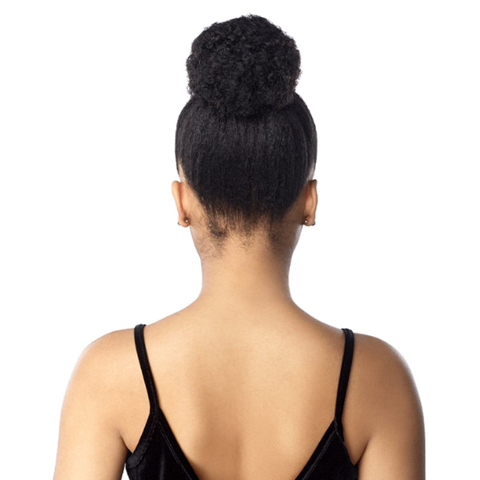 ID AFRO PUFF SMALL | Sensationnel Synthetic Instant Pony - Hair to Beauty | Color Shown : 1B