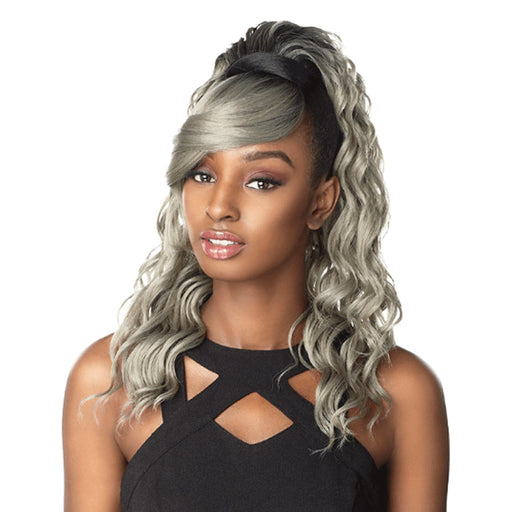 ID BRIT | Sensationnel Synthetic Instant Pony and Bang 2PCS - Hair to Beauty | Color Shown: