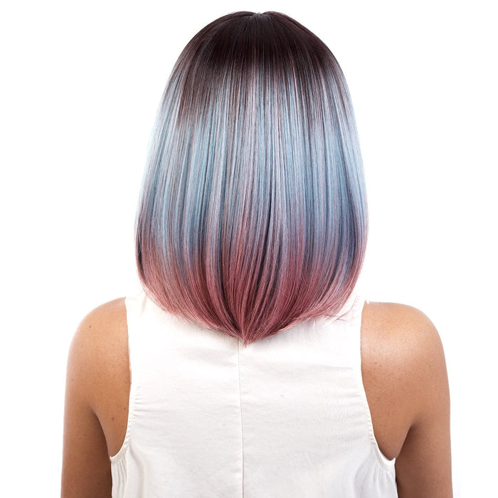 ISABEL | Motown Tress Synthetic Wig - Hair to Beauty | Color Shown: RT4/PINKBLUE