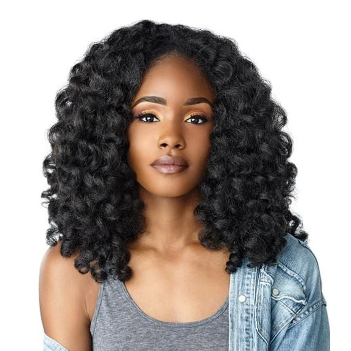 MONEY MAKER | Instant Weave Curls Kinks & Co Synthetic Half Wig - Hair to Beauty | Color Shown: 1B