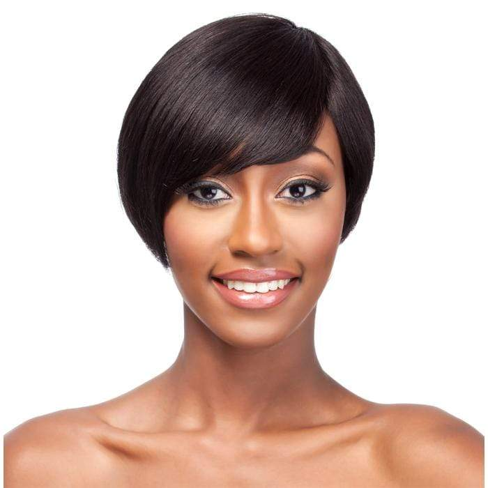 HH JAM | It's a Wig! It's a Cap Weave Human Hair Wig - Hair to Beauty | Color Shown: 1B