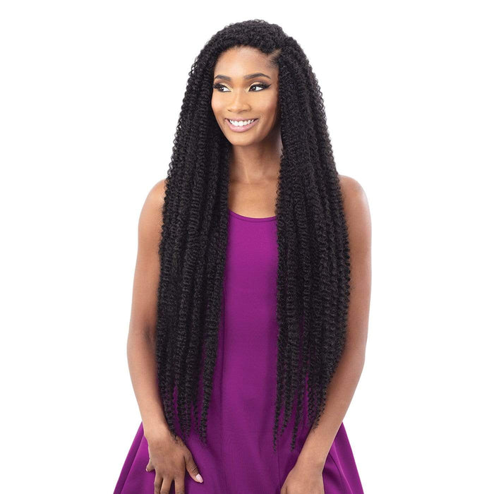 JAMAICAN TWIST BRAID EXTRA LONG | Synthetic Braid - Hair to Beauty | Color Shown: 1B